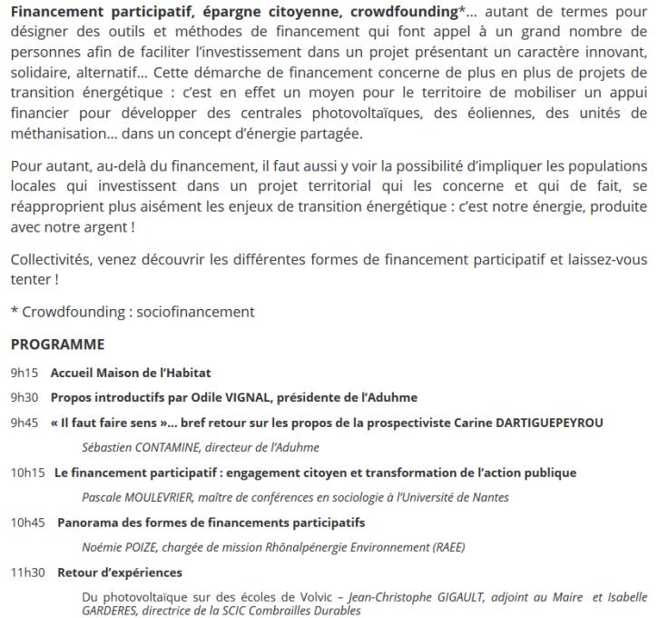 Programme financement participatif