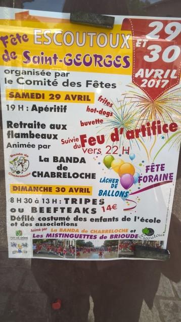 fête Saint Georges à Escoutoux